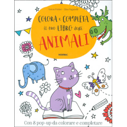 Colora e Completa il Tuo Libro degli AnimaliCon 8 pop-up da colorare e completare