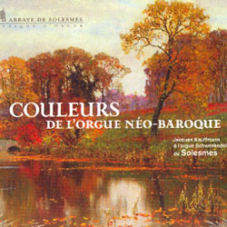 COULEURS DE L'ORGUE NEO-BAROQUE